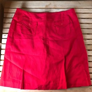 LARRY LEVINE | Red Pencil Skirt